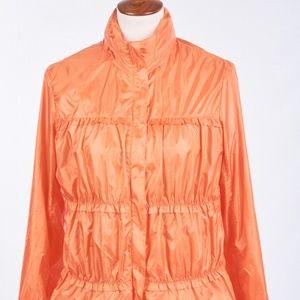 PRANA Orange Windbreaker Polyester Shell Jacket